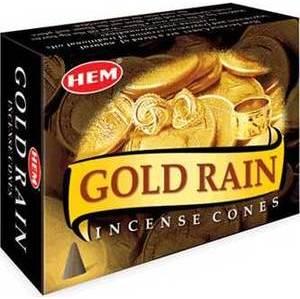Gold Rain Hem Cone Incense 10pk