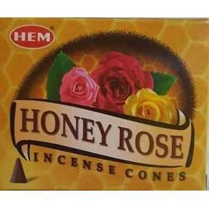 Honey Rose HEM Cone Incense 10pk