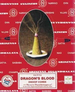 Dragon's Blood dhoop cones satya (12/pk)