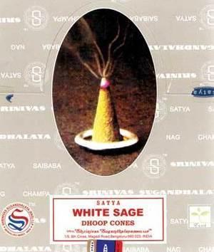 White Sage dhoop cones satya (12/pk)