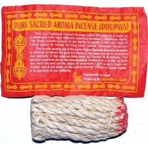 Vajra Sacred Tibetan rope incense 35 ropes