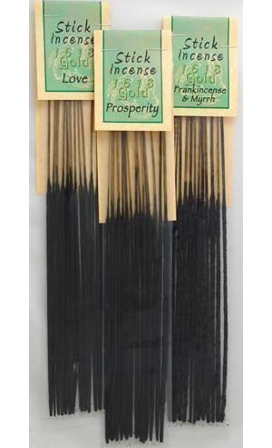 Patchouli 1618 Gold Stick Incense 13pk