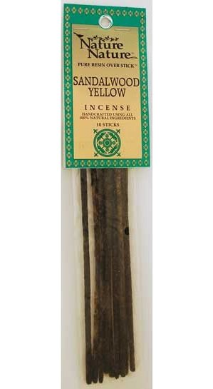 Sandalwood Yellow Stick Incense 10pk
