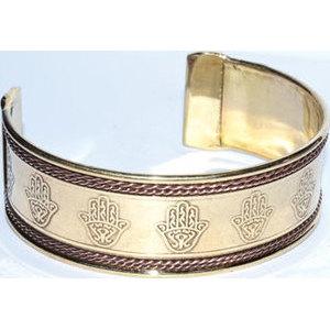 Hasma Hand copper & brass bracelet