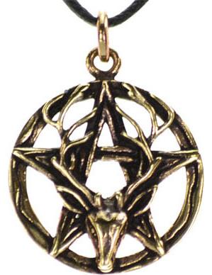 Pentagram Stag Necklace