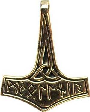 Thor's Hammer Bronze Pendant