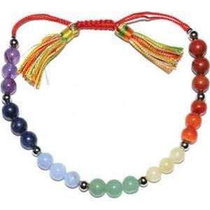 6mm 7 Chakra/ Tassel bracelet