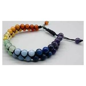 6mm 7 Chakra double weave bracelet