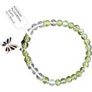6mm Peridot/ Quartz Butterfly bracelet