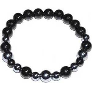 6mm Terahertz & Black Tourmaline bracelet