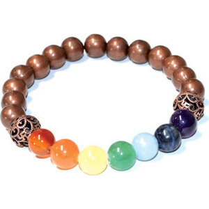 8mm 7 Chakra Copper beads