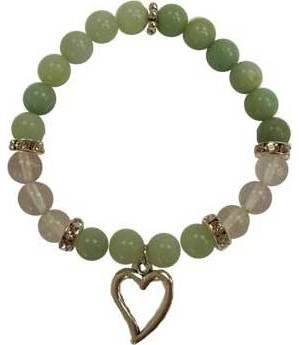 8mm Amazonite/ Quartz Heart Bracelet