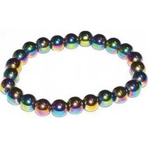 8mm Hematite, Rainbow
