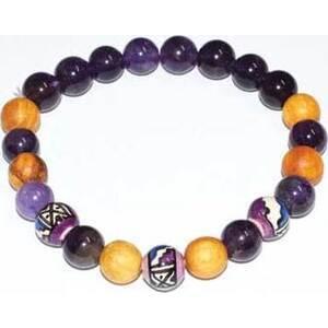 8mm Palo Santo Amethyst bracelet