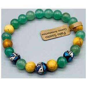 8mm Palo Santo Green Aventurine bracelet