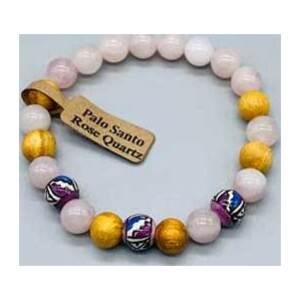8mm Palo Santo Rose Quartz bracelet