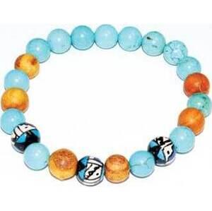 8mm Palo Santo Turquoise bracelet