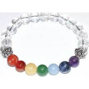 8mm Quartz & 7 Chakra bracelet
