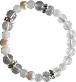 8mm Quartz/ Rainbow Moonstone Pearl