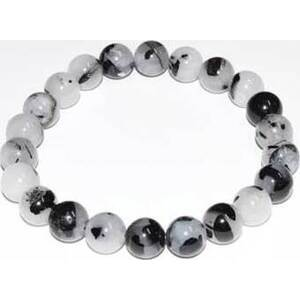 8mm Quartz, Black Rulated bracelet