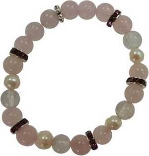 8mm Rose Quartz/ Quartz Bracelet