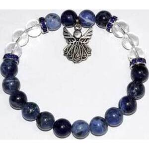 8mm Sodalite & Qtz/ Angel