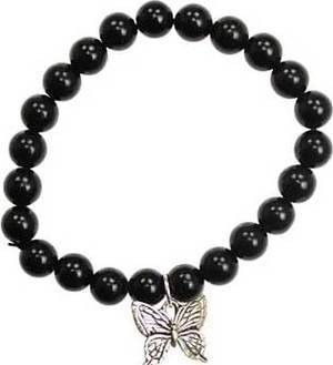 Black Obsidian Butterfly Bracelet