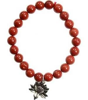 Red Jasper Lotus Bracelet