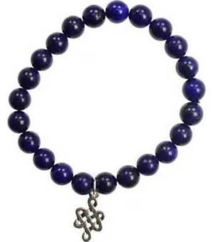 Lapis Knot Bracelet