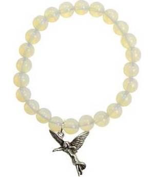 Rainbow Moonstone Angel Bracelet