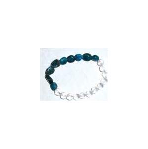 Apatite Nuggets & Quartz gemstone bracelet