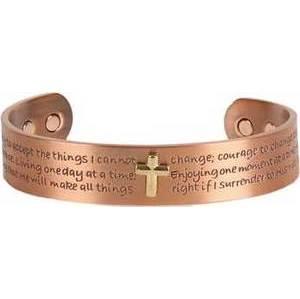 Cross Copper Magnetic bracelet