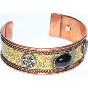 Pentagram copper magnetic bracelet