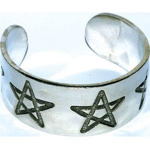 Pentagram bracelet pewter