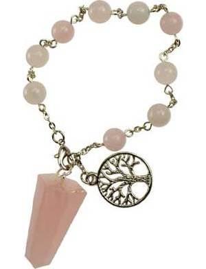 Rose Quartz Pendulum Bracelet