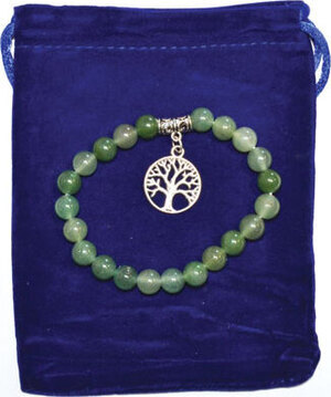 8mm Green Aventurine & Tree of Life bracelet