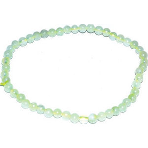4mm Jade, Chinese stretch bracelet