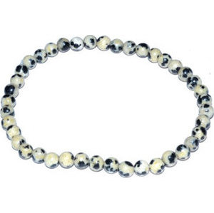4mm Dalmation stretch bracelet