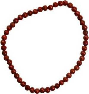4mm Red Jasper Stretch Bracelet