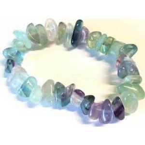 Fluorite gemstone bracelet stretch