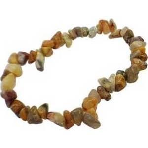 Agate, Crazy Lace chip bracelet