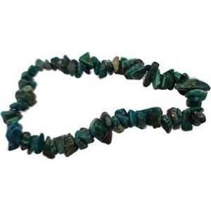 Chrysocolla chip bracelet
