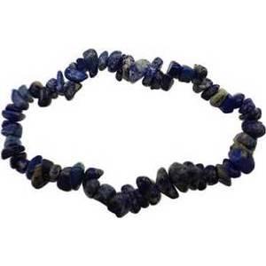 Lapis chip bracelet