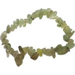 Prehnite with Hair chip bracelet
