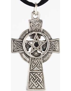 Celtic Cross Pentagram Necklace
