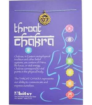 Throat Chakra Gold Necklace