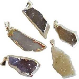 Agate Crystal Druse Pendant
