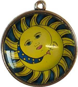 Sun & Moon Dome Pendant