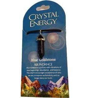 Abundance (blue goldstone) double terminated
