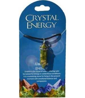 Energy (unakite) double terminated